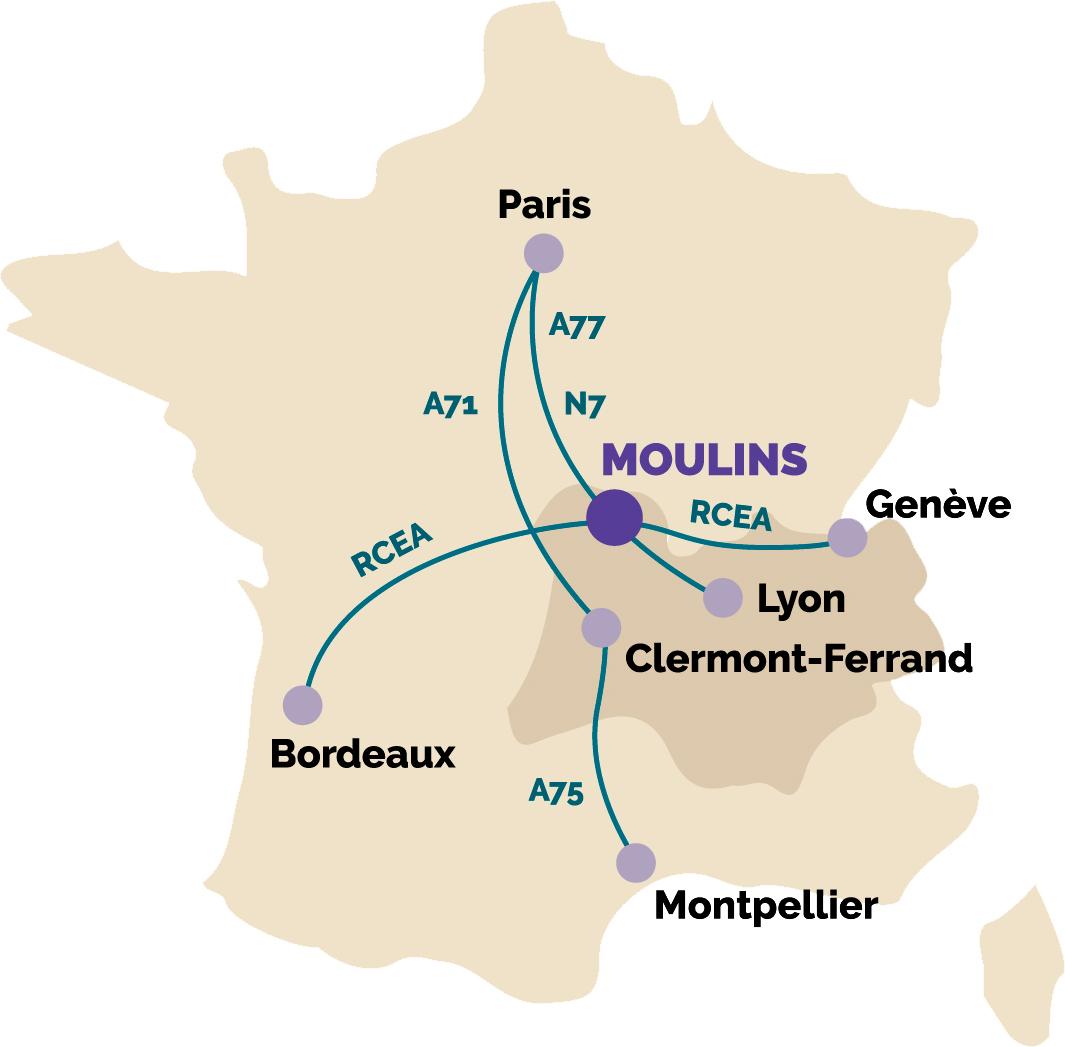 Venir à Moulins